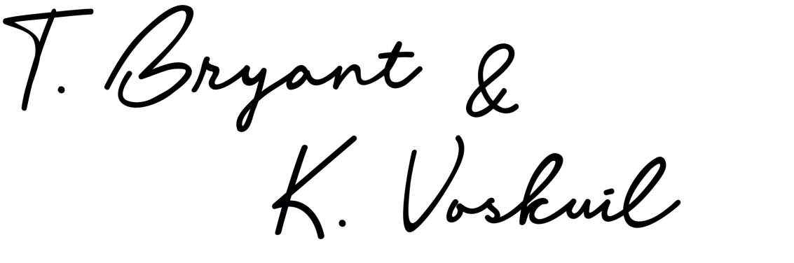 stylistic signature for Taurean Bryant and Ken Voskuil